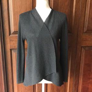 Eileen Fisher pL lightweight wool open cardigan